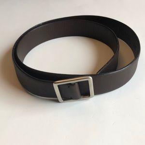 Barneys New York Brown Leather Belt
